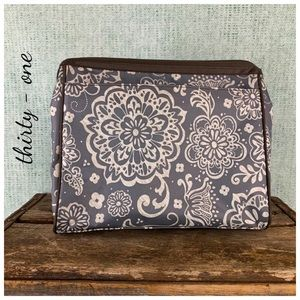 Floral thirty - one Gray Lunch Bag Purse EUC